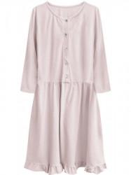 Dámske oversized šaty 305ART, púdrovo ružové