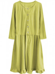 Dámske oversized šaty 305ART, žlté