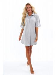 Dámske oversized šaty 4154, svetlo sivé #1