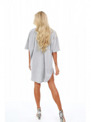 Dámske oversized šaty 4154, svetlo sivé #2