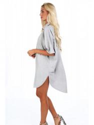 Dámske oversized šaty 4154, svetlo sivé #3
