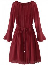 Dámske plisované šaty 241ART, bordové