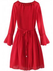 Dámske plisované šaty 241ART, červené