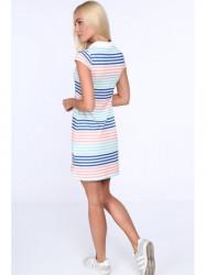 Dámske polo šaty 7658, farebné/lososové