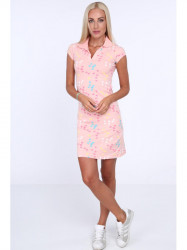 Dámske polo šaty 7690, svetlo ružové #1