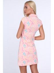 Dámske polo šaty 7690, svetlo ružové #2