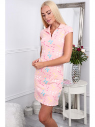 Dámske polo šaty 7690, svetlo ružové #3
