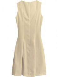Dámske rozšírené šaty 6111 béžové #1