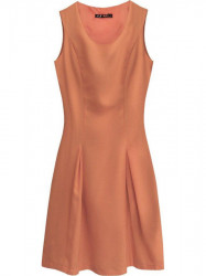 Dámske rozšírené šaty 6111 oranžové