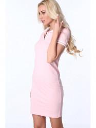 Dámske ružové polo šaty 3810