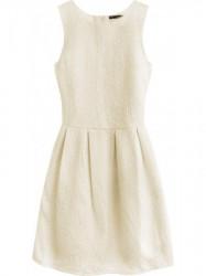 Dámske šaty s áčkovou sukňou 0820, krémové