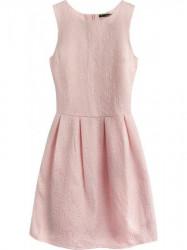 Dámske šaty s áčkovou sukňou 0820, ružové