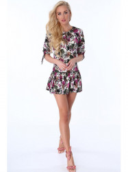 Dámske šaty s kvetmi 2887 ca484a2b50e