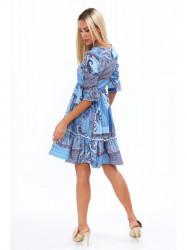 Dámske šaty s orientálnymi vzormi 20830, modré #1