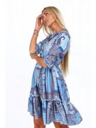 Dámske šaty s orientálnymi vzormi 20830, modré #2