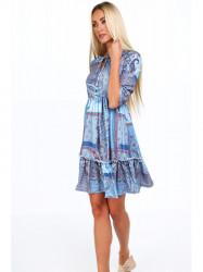 Dámske šaty s orientálnymi vzormi 20830, modré #3