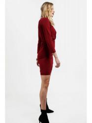 Dámske šaty s prekladaným výstrihom 4072, bordové #3