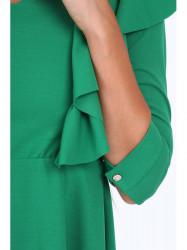 Dámske šaty s volánmi 1818, zelené
