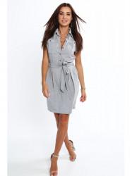 Dámske šaty sivé 4354