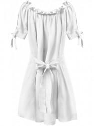 Dámske šaty v španielskom štýle 279ART, biele