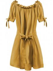 Dámske šaty v španielskom štýle 279ART, horčicové