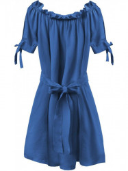 Dámske šaty v španielskom štýle 279ART, modré