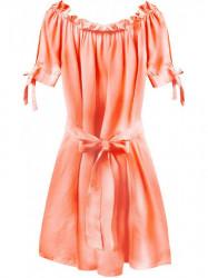 Dámske šaty v španielskom štýle 279ART, neónovo oranžové
