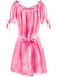 Dámske šaty v španielskom štýle 279ART, neónovo ružové
