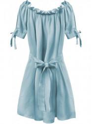 Dámske šaty v španielskom štýle 279ART, svetlo modré