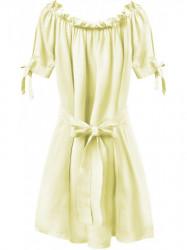 Dámske šaty v španielskom štýle 279ART, žlté