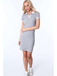 Dámske sivé polo šaty 3810