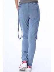 Dámske teplákové nohavice s trakmi 1714, modré