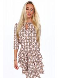 Dámske vzorované šaty 2014, ružové