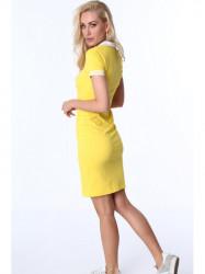 Dámske žlté polo šaty 3810
