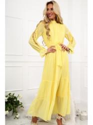 Dámske žlté šaty 4186