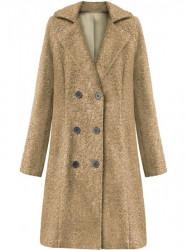 Dámsky dlhý prechodný kabát 18760, béžový