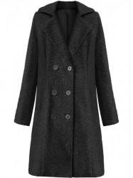 Dámsky dlhý prechodný kabát 18760, čierny