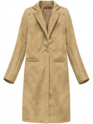Dámsky dlhý prechodný kabát 2995, béžový
