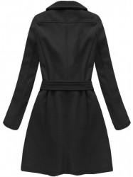 Dámsky dlhý prechodný kabát 8208, čierny