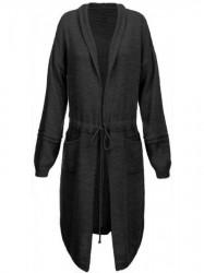 Dámsky dlhý sveter 116ART, čierny