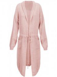 Dámsky dlhý sveter 116ART, ružový