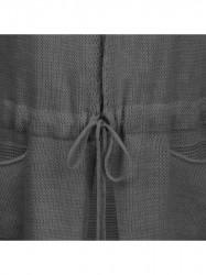 Dámsky dlhý sveter 116ART, tmavo sivý