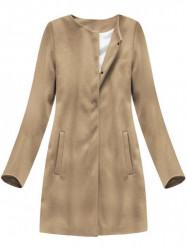 Dámsky hnedý prechodný kabát 172ART