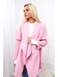 Dámsky krátky prechodný kabát 17420, svetlo ružový