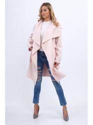 Dámsky prechodný kabát 1742, svetlo ružový