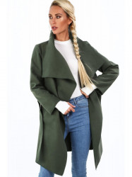 Dámsky prechodný kabát 17421, khaki