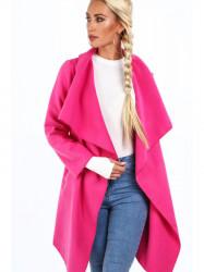 Dámsky prechodný kabát 17421, ružový