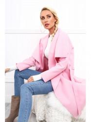 Dámsky prechodný kabát 17421, svetlo ružový
