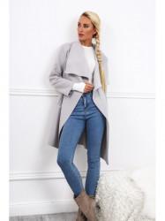 Dámsky prechodný kabát 17421, svetlo sivý