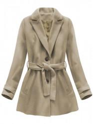Dámsky prechodný kabát 18808, béžový